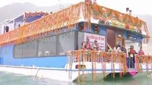 Uttarkhand Cabinet meets for the first time in floating restaurant on Tehri lake