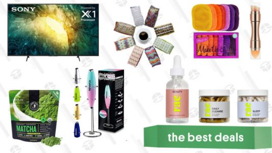 Sunday's Best Deals: 65-inch Sony Smart TV, Free Atlas Coffee, Original MakeUp Eraser Set, Rae Vitamins and Dietary Supplements, Matcha Organic Green Tea, and More