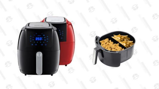 Fry or Reheat Almost Any Two Dishes Simultaneously the Healthier Way With 58% off This 5-Quart GoWise Air Fryer