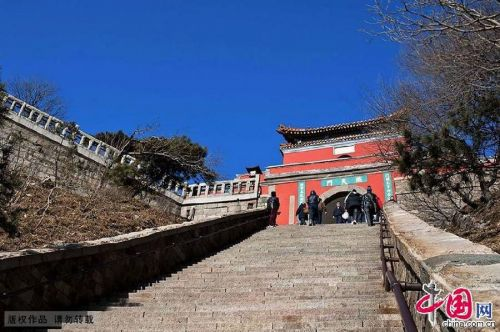 Magnificant views of Mount Tai
