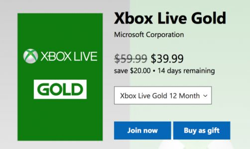 Re-Up Your Xbox Live Gold Membership For $40, Which Is as Cheap As You Can Ever Hope For