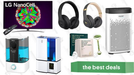 Saturday's Best Deals: LG NanoCell 65-Inch Smart 4K TV, Aiper HEPA Air Purifier, Beats3 Wireless Headphones, Soothing K-Beauty Products, Top-Fill Humidifier, and More