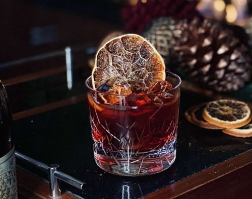 Christmas Cake Negroni by 45 Park Lane