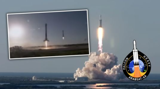 SpaceX Lands Three Falcon Heavy Rocket Boosters After One Launch