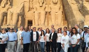 Egypt Minister of Antiquities Khaled el-Anany visits Abu Simbel Temple in Aswan