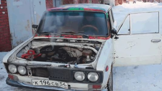 These Guys Did Their Damn Best to Kill A Lada Engine With Sunflower Seed Oil, Pepsi, Milk, Eggs and Salt