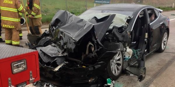 Tesla Model S that crashed into a fire truck in Utah reportedly sped up before impact
