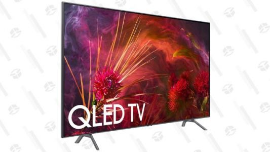 "Save Hundreds On Samsung's 75"" and 82"" QLED TVs, Which, Yeah, Should Be Big Enough"