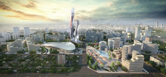 Senegal is building a $2 billion futuristic city to help cut down on overcrowding in Dakar - check out its abstract design