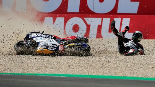 Moto2 Rider Who Grabbed Competitor's Brake Lever is Banned From Motorcycle Racing Until 2019