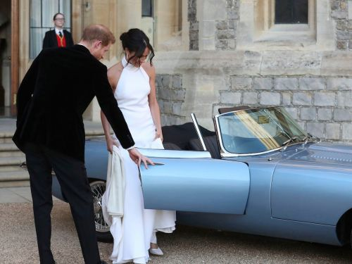 Here's a look at the electric Jaguar that Prince Harry and Meghan Markle drove away from Windsor Castle