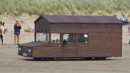Extremely English Man Races Shed To New Land Speed Record