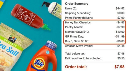 Stack Discounts on Discounts on Discounts With These Prime Pantry Prime Day Deals