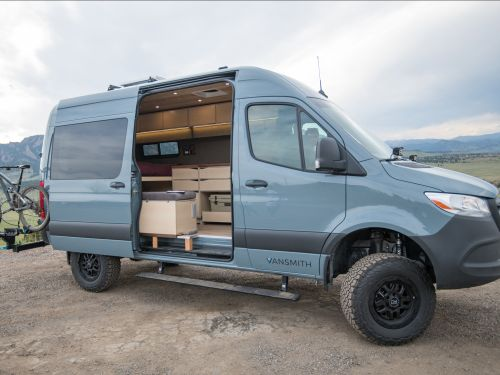 Vansmith has unveiled its new camper van with wood detailing built on a Mercedes-Benz Sprinter - see inside