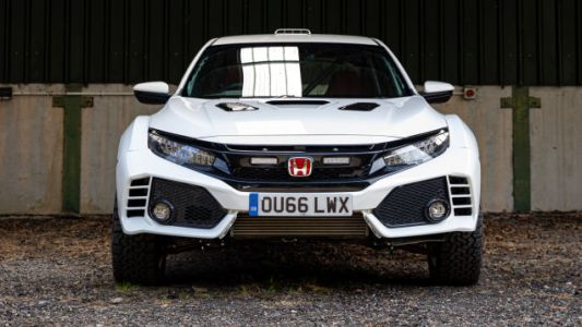 The 'Honda Civic Type OveRland' Is a Mean-Looking Lifted Honda Civic Type R
