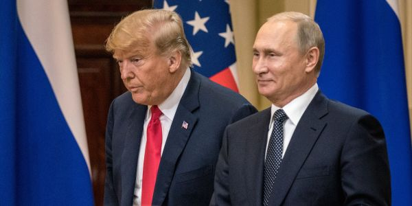 Half of Americans disapproved of Trump's performance at the Putin summit, poll finds