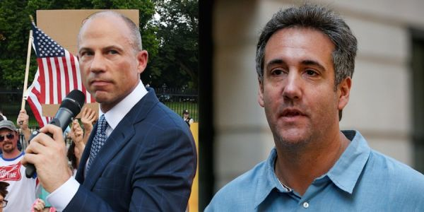 Michael Cohen and Michael Avenatti bumped into each other at a swanky Manhattan restaurant, and Avenatti said it was 'random and productive'