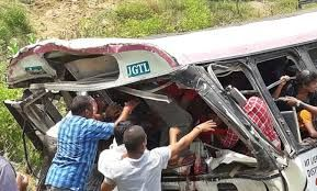 Bus crashes South India's Telangana; kills at least 55 people