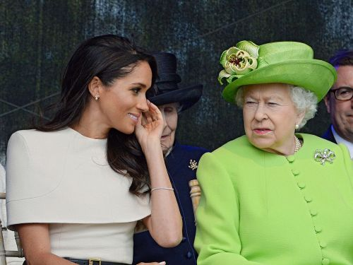 The queen gave Meghan Markle matching earrings for their first event together