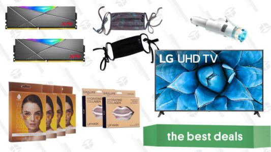 Saturday's Best Deals: LG 75-Inch Smart 4K TV, XPG DDR4 RAM, Hydrating Collagen Masks, Onzie Face Masks, Car Safety Multi-tool, and More