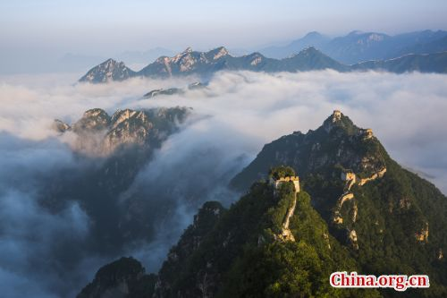 Magnificant scenery of Jiankou Great Wall