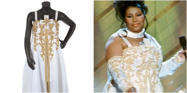 More than 30 dresses and accessories from Aretha Franklin's career are hitting the auction block