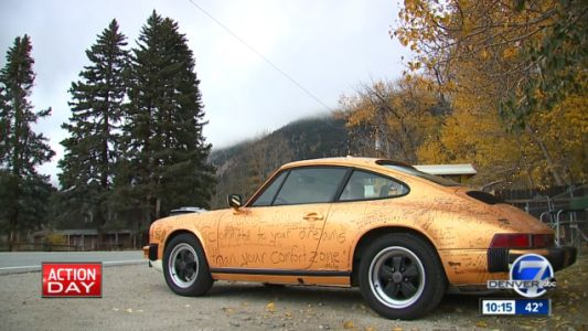 This Guy Put Some Markers Next to His 1982 Porsche 911 and It's Become a Mural of Inspirational Quotes