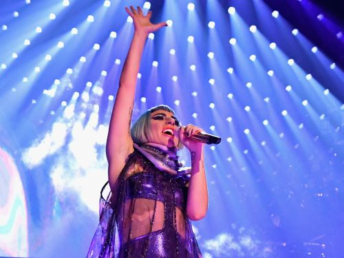 Watch Lady Gaga break down in tears as she performs 'Shallow' for the first time live at her 'Enigma' Vegas residency