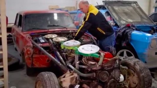 Here's What Happens When You Bolt Four Engines Together to Create a Monstrous Inline-16