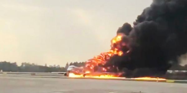 41 people dead after an Aeroflot plane burst into flames during an emergency landing at a major Moscow airport