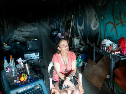 Inside the lawless tunnel network below the Las Vegas strip where thousands of homeless people live in fear of being washed away