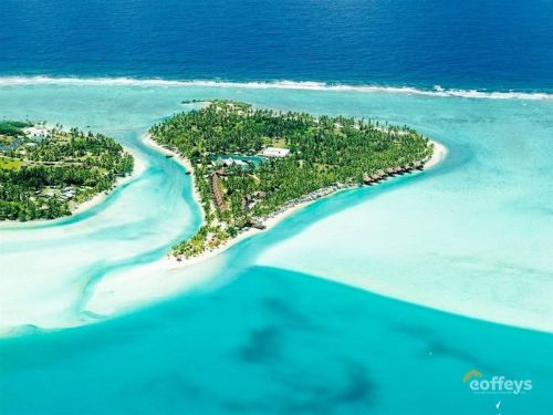 Inside the private island resort on a South Pacific lagoon that's on sale for $23 million