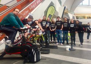 430 Mile Cycling Challenge at Birmingham New Street to Combat Blood Cancer