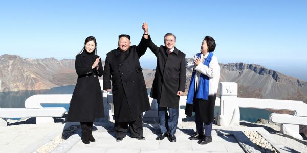 Kim Jong-un and South Korea's Moon Jae-in visited North Korea's tallest peak, the latest sign peace talks are making progress