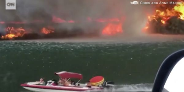 A wildfire created a rare phenomenon knows as a 'firenado' along the Colorado River