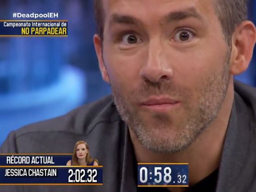 Ryan Reynolds dominated in a staring contest for almost 3 minutes - and beat another star's record