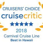 Carnival Cruise Line's Hawaii Cruises Earn Top Honors in Cruise Critic's Cruisers' Choice Destination Awards