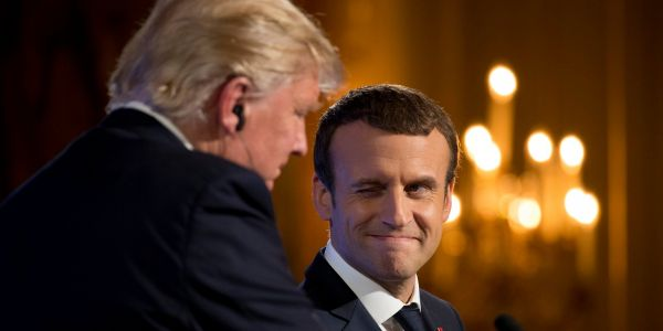 France's Macron reportedly referenced 'The Art of the Deal' to clap back at Trump over an EU trade dispute
