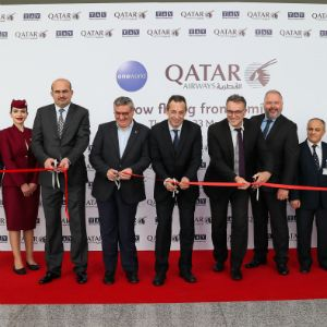 Qatar Airways' Inaugural Flight to Izmir Touches Down at Izmir Adnan Menderes Airport