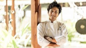 Chef Yusuke Aoki of Four Seasons Resort Bali at Jimbaran bay crowned world champion