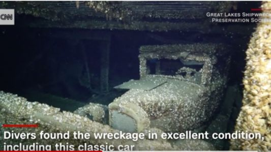Divers Find a 1927 Chevrolet Coupe in a Lake Huron Shipwreck