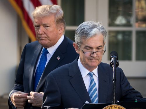 Trump fired a new warning shot at the Fed over rising interest rates