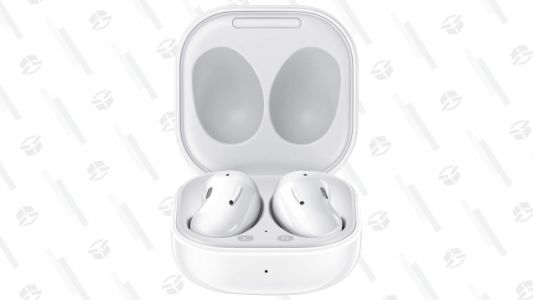 Samsung's Bean-Shaped Galaxy Buds Live Earbuds Are $50 off in White
