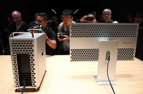 The fully upgraded Mac Pro costs $50,000, but you can add wheels for $400 more