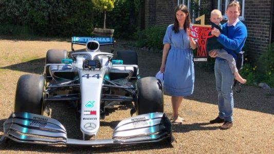 Mercedes Sent Lewis Hamilton's Race-Winning Car to a Young Terminally Ill Fan's House