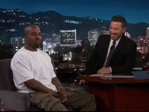 Kanye West says he was cut off before he could answer Jimmy Kimmel's question about Donald Trump