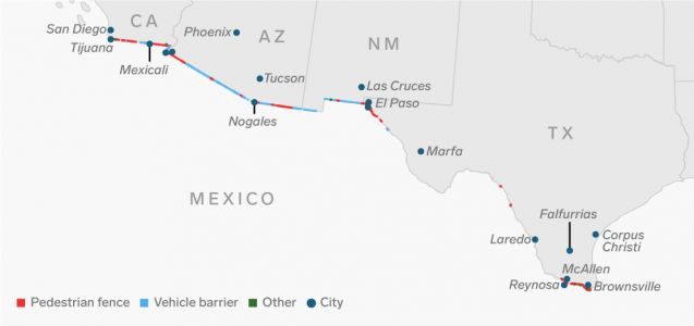 As the government shutdown over Trump's border wall rages, a journey along the entire 1,933-mile US-Mexico border shows the monumental task of securing it