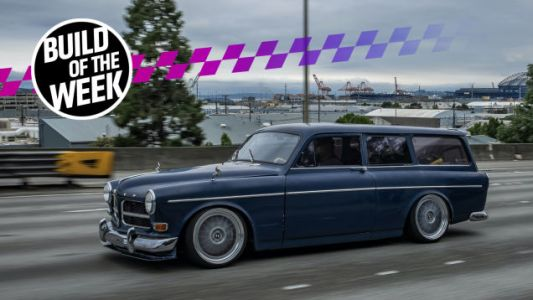 True Hero Swapped A Volvo Amazon Wagon Body Onto A BMW E30 In His Driveway