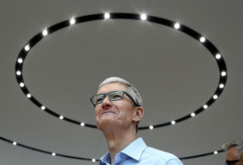 Apple CEO Tim Cook is striking back at critics who say innovation in the smartphone industry has peaked