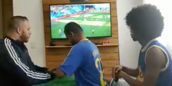 Incredible video shows how friends help a deaf and blind Brazil fan enjoy the World Cup